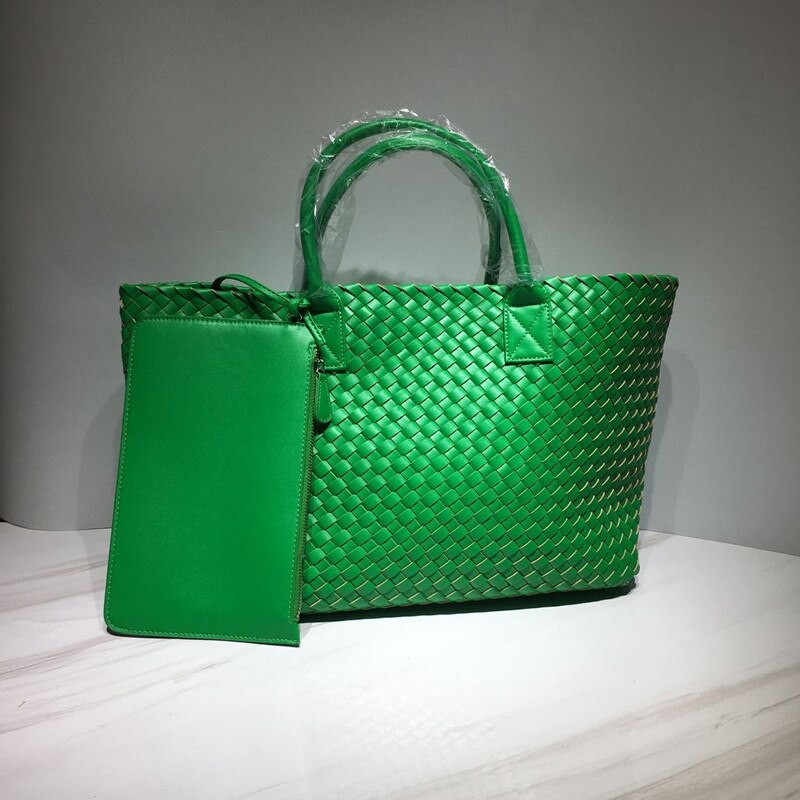 2021 المرأة نسج سعة كبيرة حقيبة كتف العلامة التجارية مصمم حمل حقيبة عالية الجودة محفظة مجموعات فاخرة جديدة حقائب يد على الموضة للسيدات