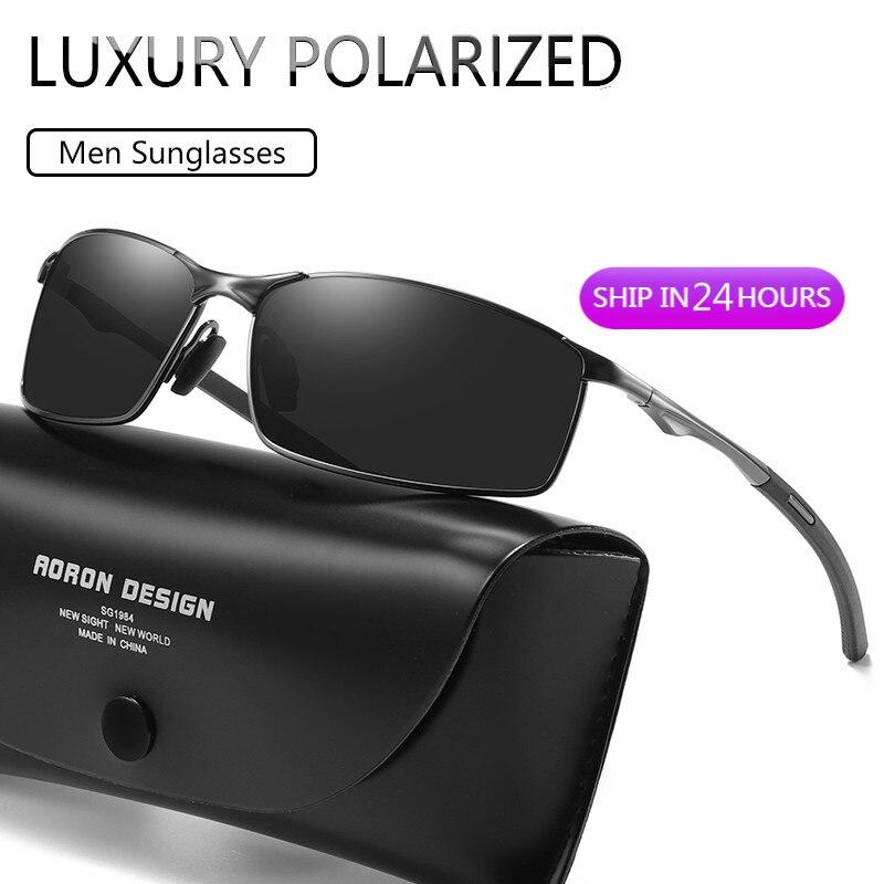 Luxury Polarized Sunglasses Men 2020 Alloy Frame Mirror Eyewear Mens Glasses For
