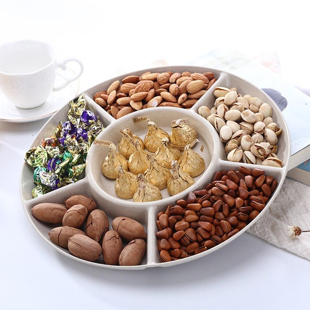الجوز طبق الحلوى وجبات خفيفة خادم طبق حفلة غرفة المعيشة المنزل الفواكه الجافة لوحة الغذاء صندوق تخزين 1 قطعة قطرها حوالي 28.5 سنتيمتر