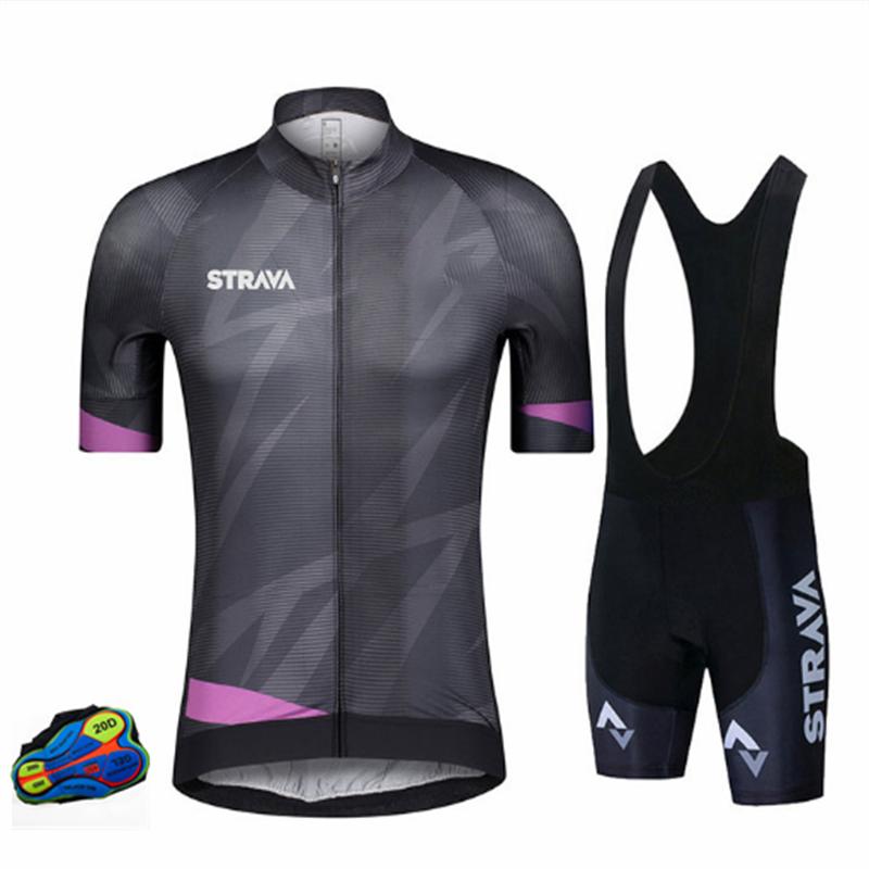 Strava-Ropa De Ciclismo Pro Team para hombre, Maillot corto, Ropa De Ciclismo...