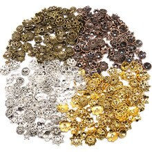 Mix Color Flower Bead Cap Small Mixed Size Tibetan Silver plated Beads Caps Needlework Diy Accessori