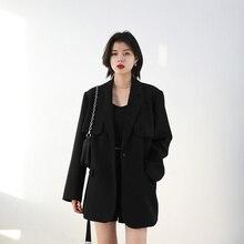 Early Spring Suit Temperament Waist Closing Medium Length Coat Women's Design Sense Suit