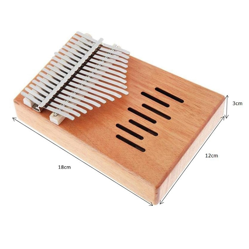 Kalimba 17-Key Thumb Piano with Tuning Hammer,Portable Finger Piano with Tuning Hammer,for Children Adult Beginners enlarge