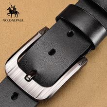 NO.ONEPAUL genuine leather men belts fashion business belts for male luxury designer belts men cowskin jeans Buckle blets