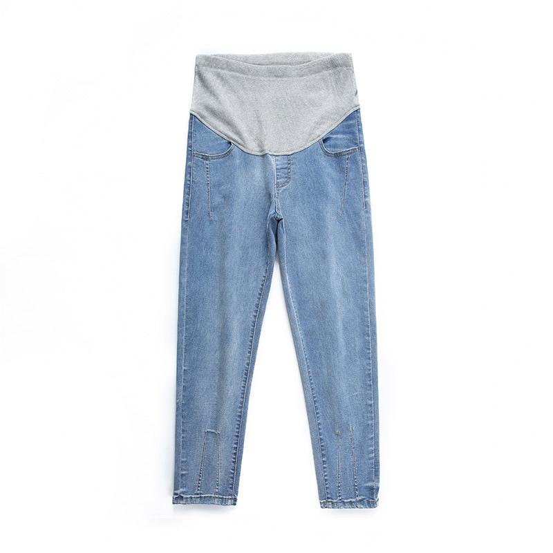 Fdfklak Autumn Maternity Pants For Pregnant Women Trousers Djustable High Waist Jeans Pregnancy Pants Maternity Clothing enlarge
