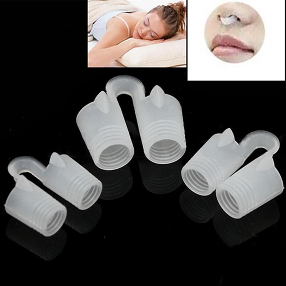1 pieza útil Anti ronquidos Clip de la nariz de la Apnea respiración fácil ronquido tapón dispositivo de ayuda para dormir dejar de roncar nuevo