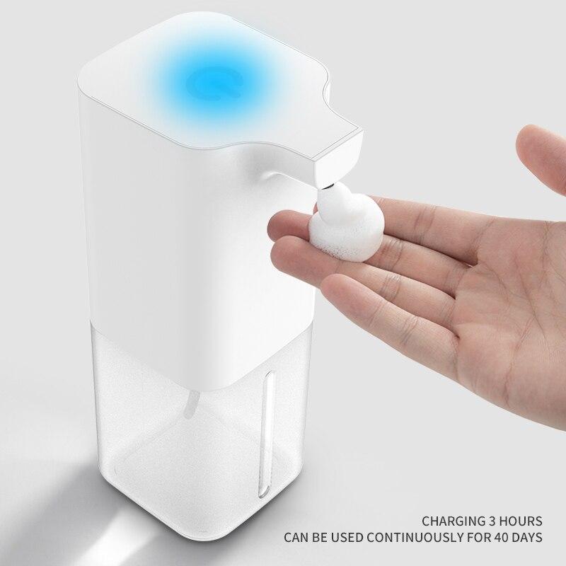 Automatic Foam Soap Dispenser Intelligent Liquid Soap Dispenser 350ml Bathroom Contactless Infrared Sensor Induction Hand Wash