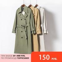 Toppies весной тренч женский, длинный двубортный тренч, приталенный тренчкот, модная ветровка, женская одежда 2021