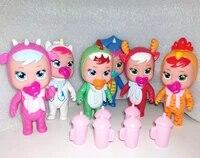 12cm drinking water doll cry doll toy crying baby girl play house children girls birthday gift vinyl mini doll pvc toys