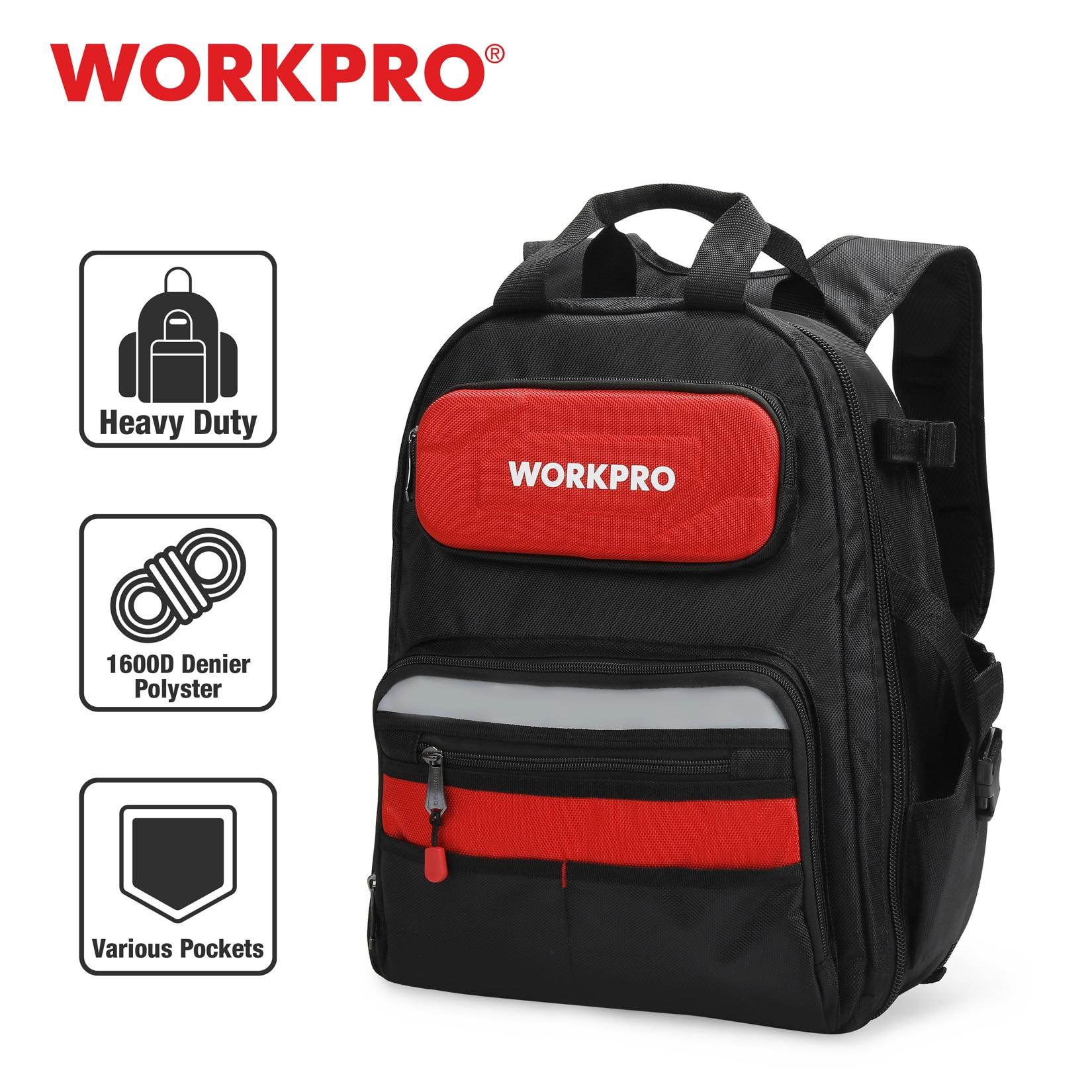 WORKPRO 2021 New Backpack Tradesman Organizer Bag Waterproof Tool Bags Multifunction Knapsack Toolbag