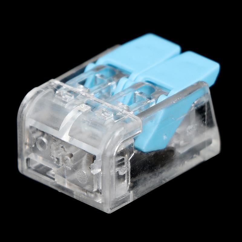 10 pces mini conector de fio rápido universal conector de cabo de fiação push-in PCT-412 novo