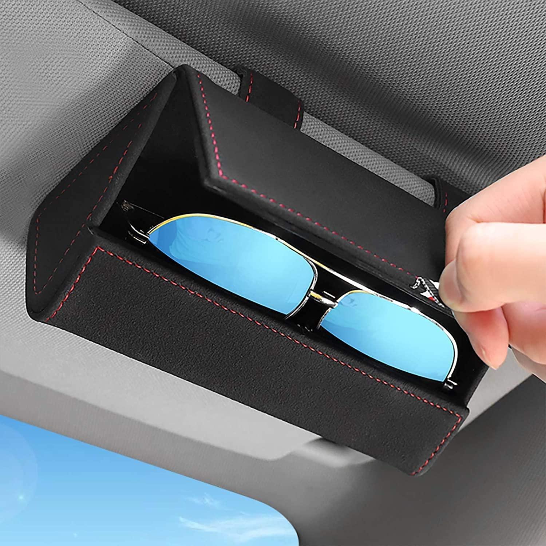 Чехол CARDUTIFUL для автомобильных солнцезащитных очков, чехол для автомобильных солнцезащитных очков со скрытой магнитной застежкой для униве...