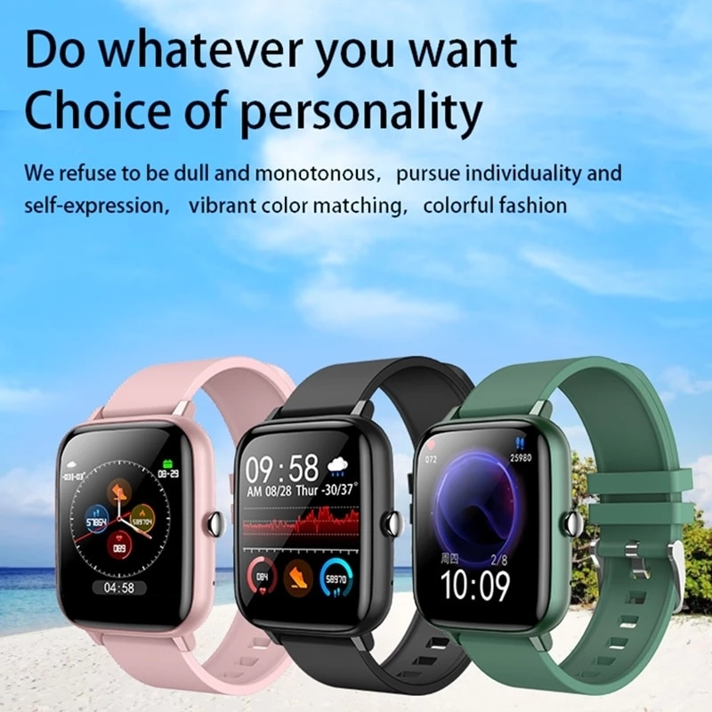 2021 Smart Watch Men Women Full Touch Blood Pressure Monitor Fitness Tracker Watch for Android IOS Smart Clock enlarge