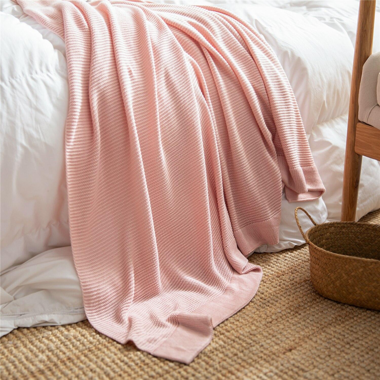 بطانية محبوكة على الطراز الاسكندنافي ، بسيطة وعصرية ، للربيع والصيف ، للقيلولة ، والديكور المنزلي ، بجانب السرير ، مكيف الهواء
