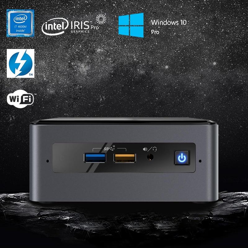 Original Intel NUC8i7BEH Mini PC Quad-Core i7-8559U Upto 4.5GHz Windows 10 Pro WiFi Bluetooth Thunderbolt 3 4k Support 3 Display