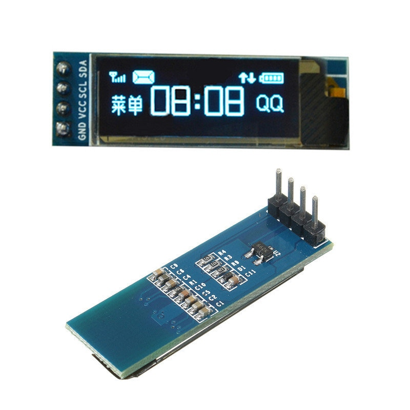 blue white oled lcd display 0 91 inch 128x32 iic i2c serial diy module ssd1306 driver ic 0 91 12832 ssd1306 for arduino pic 0.91 inch OLED display module white/blue OLED 128X32 LCD LED Display SSD1306 12864 0.91 IIC i2C Communicate for ardunio
