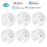 Prise intelligente WiFi 16a US  pour application Tuya Smart Life  moniteur dalimentation a distance  minuterie  prise en charge dalexa Google Home  domotique