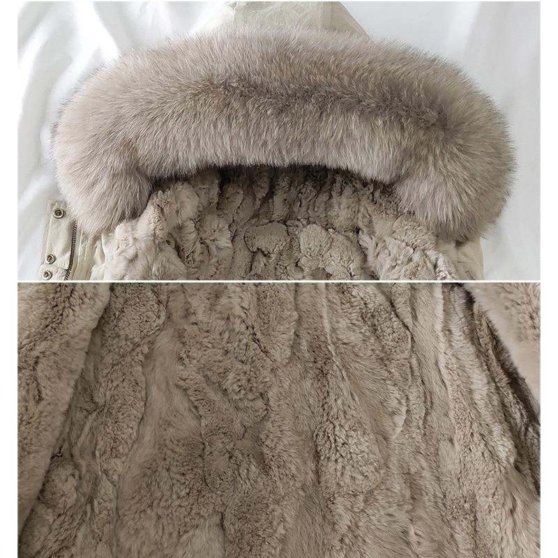 2021 Winter Fur Babyu Boy Coat Hooded Warm Girls Jackets Outdoor Sport Children Snowsuits Windproof Teenager Kids Ourerwear enlarge