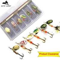 orjd 2g 5g trout fishing spoon lure set fishing baits swimbait metal spoon sequins hard fishing lures spinner