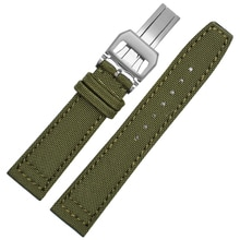 Nylon watch band for IWC-Portuguese-pilot series 20mm 21mm 22mm wristwatches band canvas bracelet bl