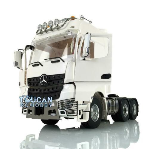 LESU RC Металл 6*6 1/14 шасси светильник крыши Hercul Arco кабина тракторный грузовик
