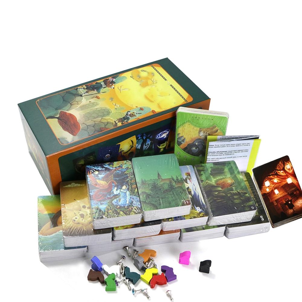 ألعاب بطاقة صغيرة DlXlT تحكي القصة 1 + 2 + 3 + 4 + 5 + 6 + 7 + 8 + 9 + 10 + 11 + 12 ، مجموع 936 بطاقة ، ألعاب لوحة حفلات العائلة الإسبانية للأطفال