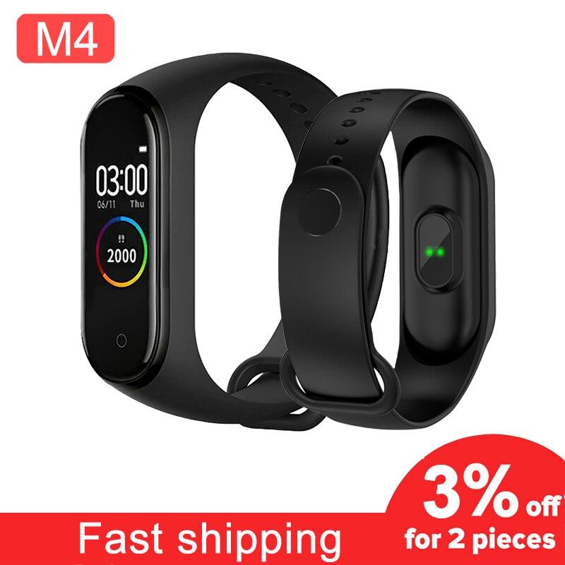 M4 Спортивный Браслет Смарт-браслет 4 Шагомер фитнес-трекер для измерения сердечного ритма Bluetooth Wirstband водонепроницаемый Smartband для mi xio mi xiaomi