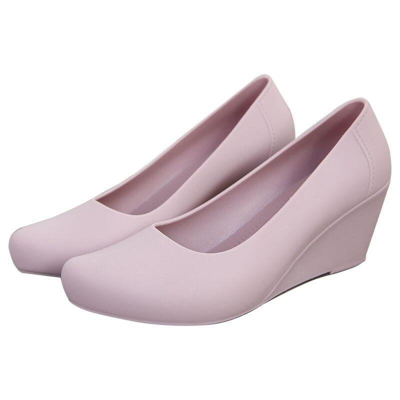 Zapatos de tacón de cuña SLHJC para mujer, zapatos de tacón alto, zapatos de tacón gelatinoso, sandalias de primavera y verano, zapatos de lluvia antideslizantes de 6,5 CM