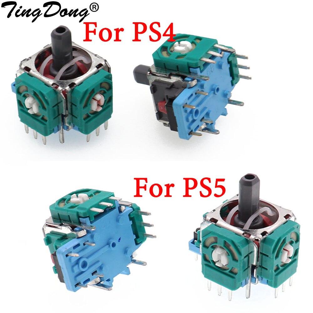 TingDong 2 шт. оригинальный 3Pin 3D Rocker 3D аналоговый зеркальный модуль для Playstation 5 PS5 PS4