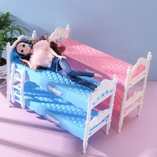 New Fashion Doll Double Bed Cute Children's Toy Accessories Best Gift for 30cm  Plastic Gadget