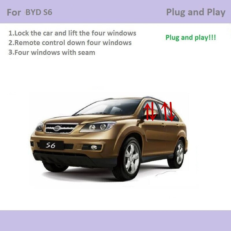 For BYD S6 Car Automatic Window Closer Closing&Open Control Window Lifter Accessories