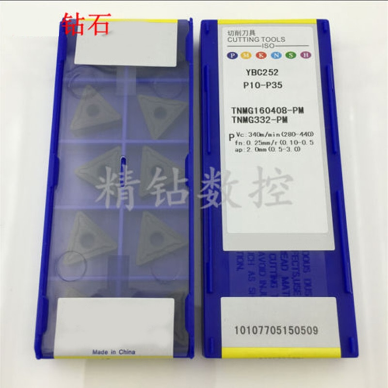 10pcs TNMG160408-PM YBC252 TNMG332-PM P10-P35 Original genuine