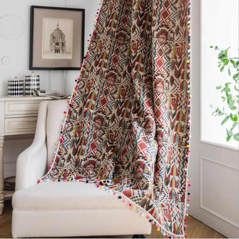 ستارة جاكار ملونة على الطراز الأمريكي ZC113 ، كرات زخرفية لغرفة النوم وغرفة المعيشة على الطراز الأمريكي