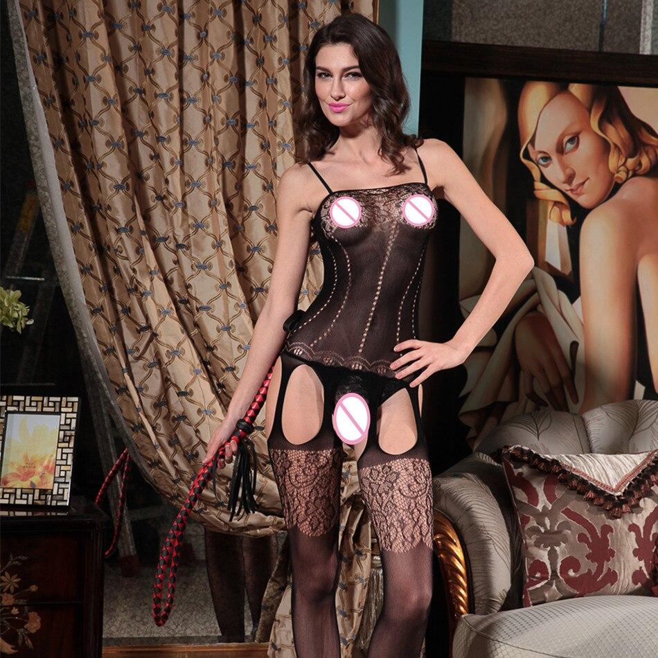 Grande taille vêtement sexy fétiche lingerie Teddies body lingerie érotique chaude body costume élasticité maille corps body body