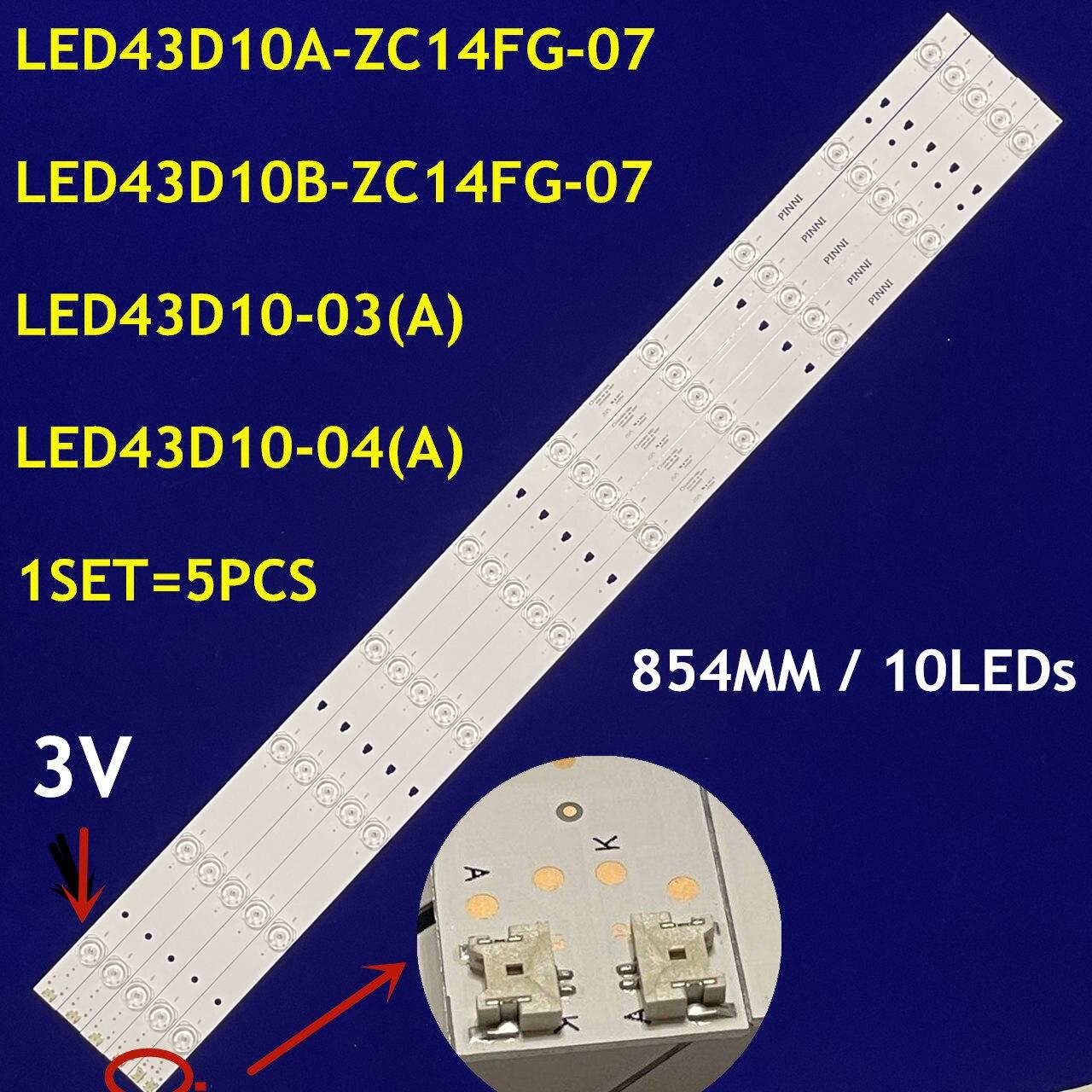 LED الخلفية قطاع LED43D10A-ZC14FG-07 LED43D10B-ZC14FG-07 LED43D10-03(А )LED43D10-04(A) 30343010202/01For LG 43