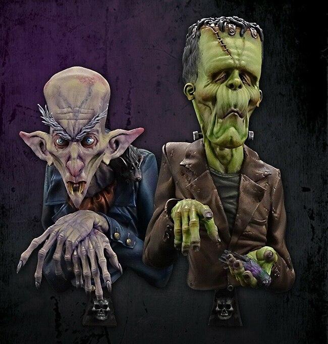 1/12 hombre antiguo personajes de película busto incluye 2 hombres resina figura modelo kits miniatura gk desmontaje sin pintar