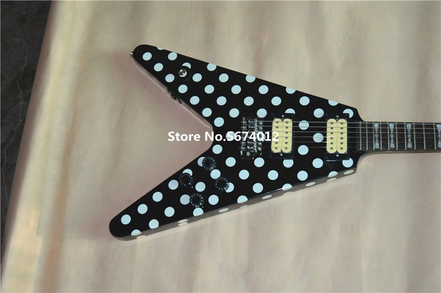 Free Shipping Randy Rhoads Signature Electric Guitar Polka Dot Finish Top China Guitar enlarge