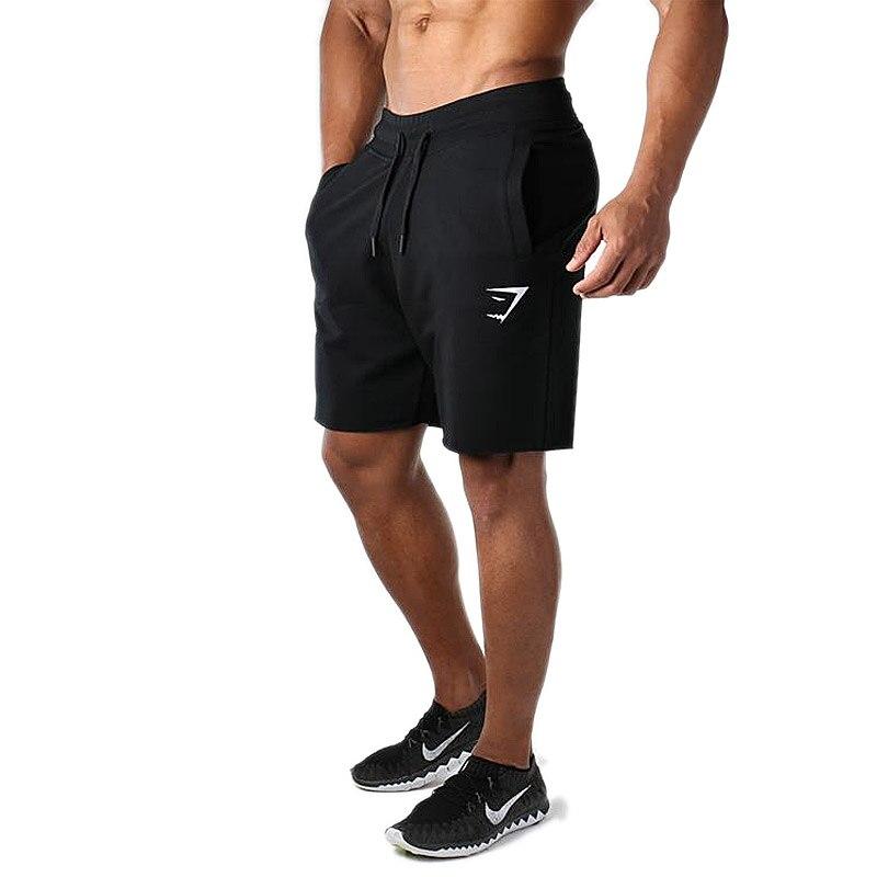 Summer Gym Men's Cotton Sports Shorts Running Training Pants Elastic Sweat Workout Jogging Fitness M
