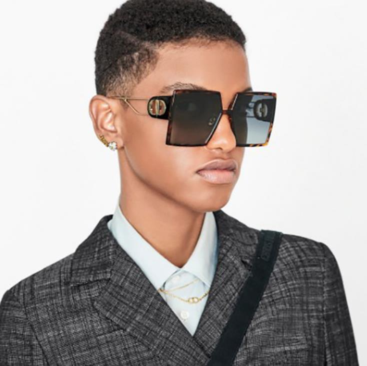 Flat Top Sunglasses Men Women Brand Designer Square Shades Gradient Sun Glasses Men Cool One Piece U
