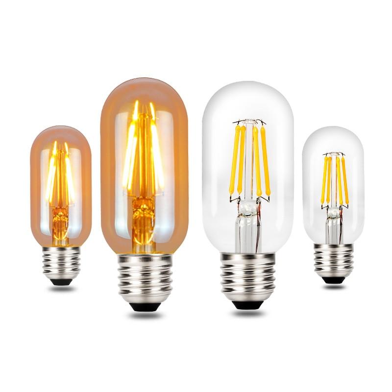 Bombilla de filamento LED T45 E27, lámpara Retro de 220V, 4W, 6W,...