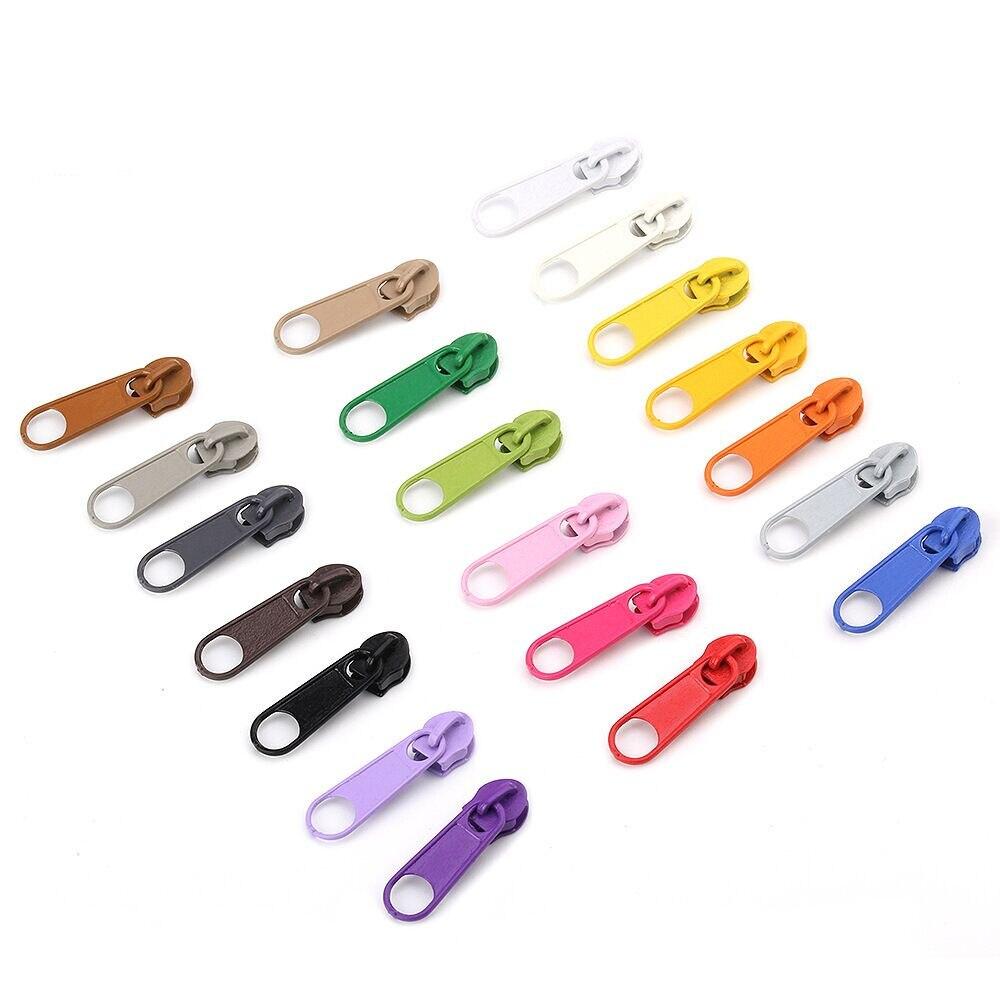 10 unidades/pacote 3 # Nylon Com Zíper Deslizante Puxar a Cabeça Para DIY Reparação Travesseiro Colcha Saco Cama 20 Cores Para A Escolha