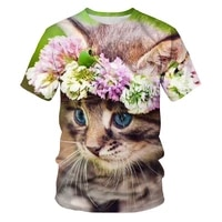 oversized t shirt summer fashion harajuku shirt 3dt cute cat 2021 ladies t shirt soft loose o neck gothic clothes mens clothing