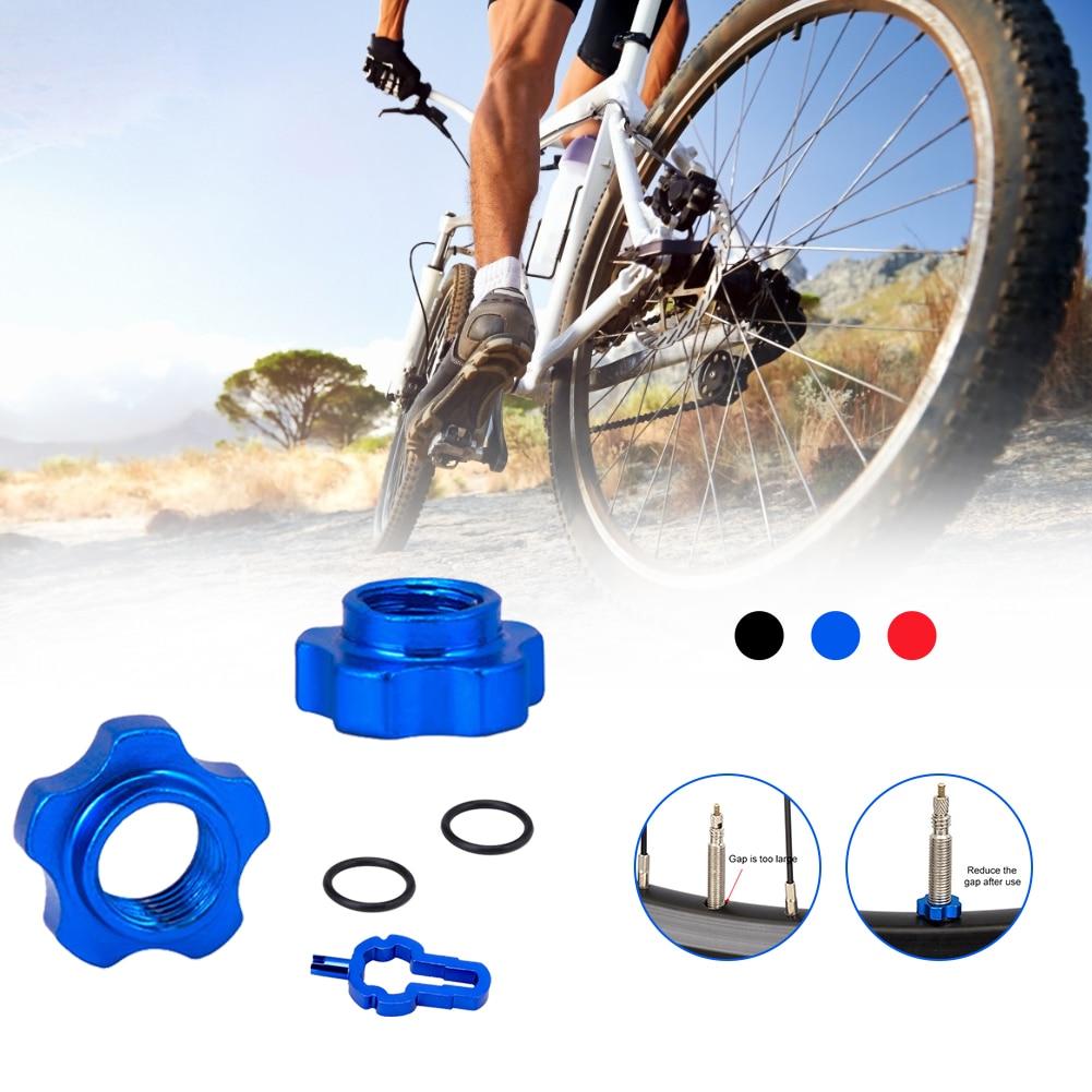 Bike Vacuum Tire Valve Nut Presta Inner Tube Accessories with Installation Wrench