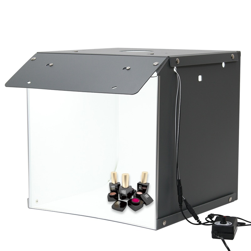 Novo sanoto 40cm photo studio caixa de fotografia pano de fundo portátil softbox led luz foto caixa fold photo studio caixa macia