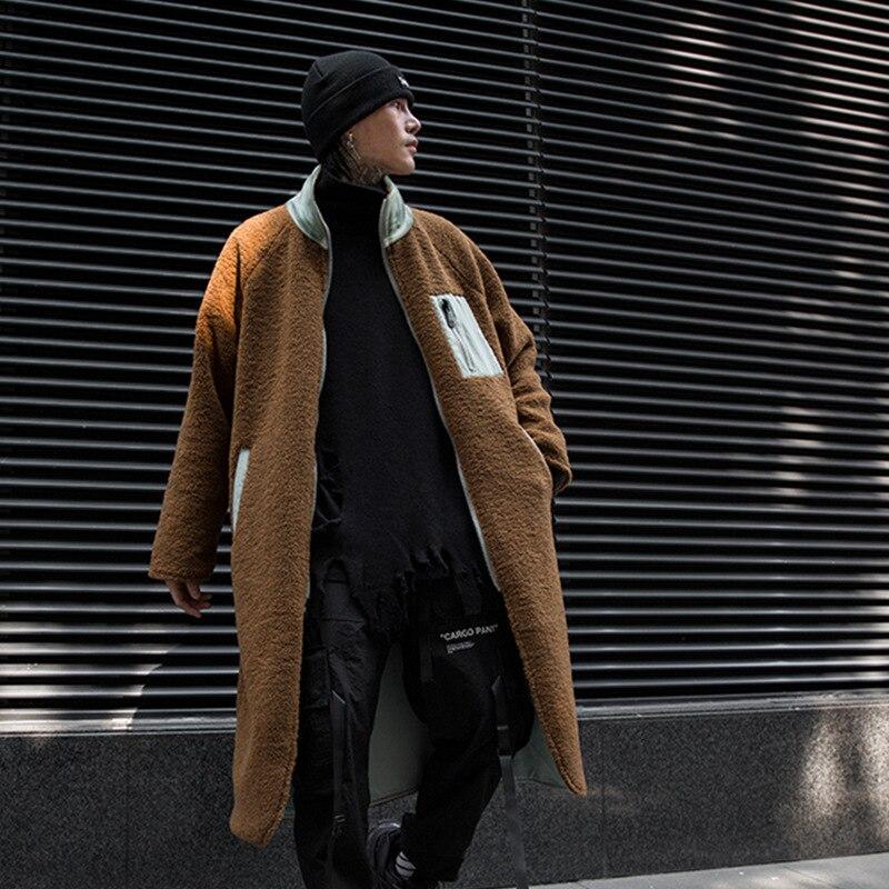 الخريف الشتاء الرجال داخل خارج 2 أنماط ارتداء عارضة طويلة سترة واقية سترة الذكور النساء الشارع الشهير سميكة خندق معطف معطف