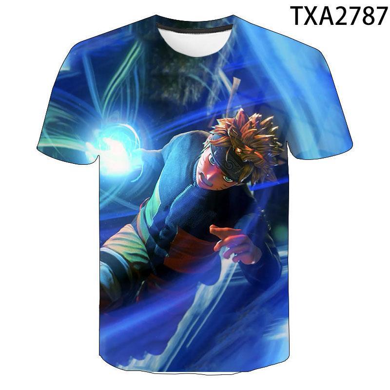 2020 sommer Kurzarm Naruto 3D Druck Anime Design T-shirt Mode Neuartigen Stil Kühlen Männer und Frauen T-shirt Anime 110-6XL