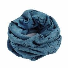 Children Warm Cotton Scarf Boy Girl Scarf Shawl Winter Star Neckerchief Scarves Child Collar O Ring
