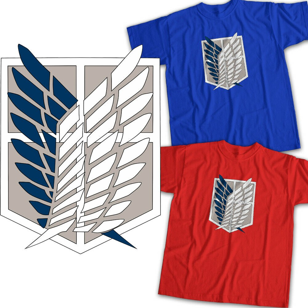 Attack on Titan Survey Corps emblema símbolo hombres mujeres niños Unisex camiseta