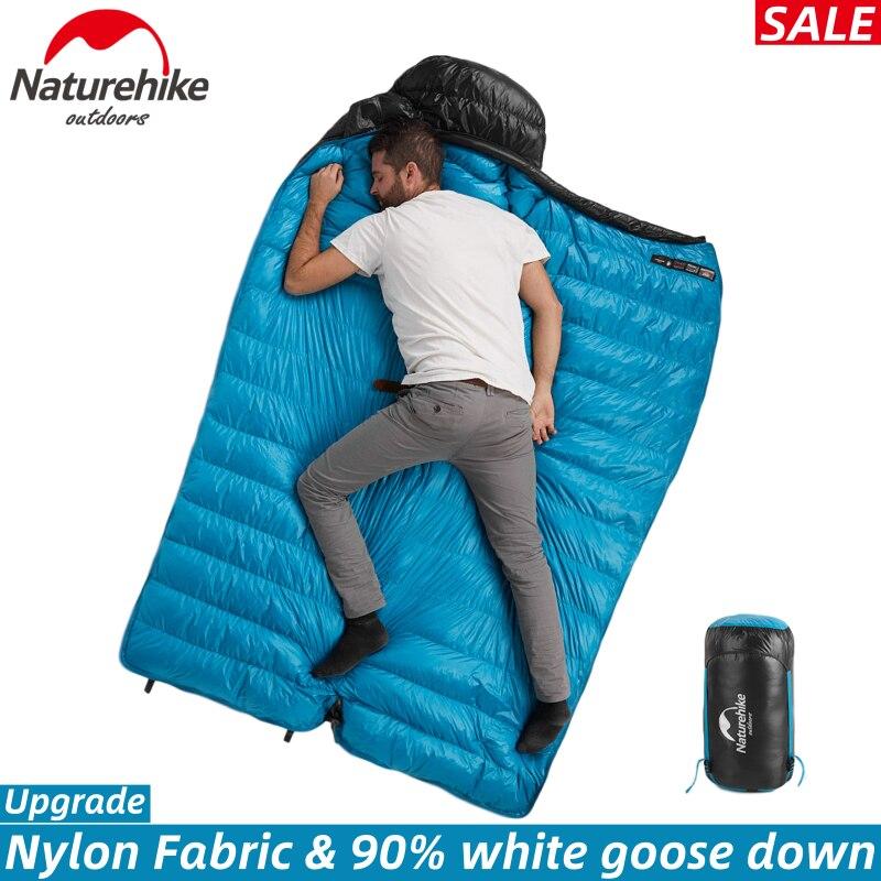 Bolsa de dormir Naturehike CW400 invierno 90% ganso blanco abajo ultraligero mantener caliente saco de dormir abajo edredón equipo de Camping al aire libre