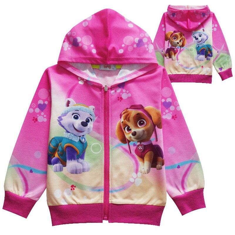 Paw patrol sudaderas con capucha para niños de dibujos animados Marshall Chase Skye rockero Cosplay disfraz chico chica sudadera niños chaqueta 3-11Y